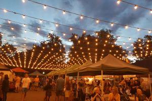 Wednesday beer garden lights